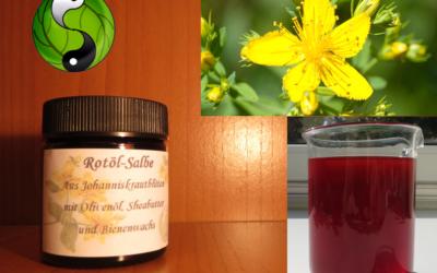 Johanniskraut zu Diensten – Die Rotölsalbe ist jetzt da!